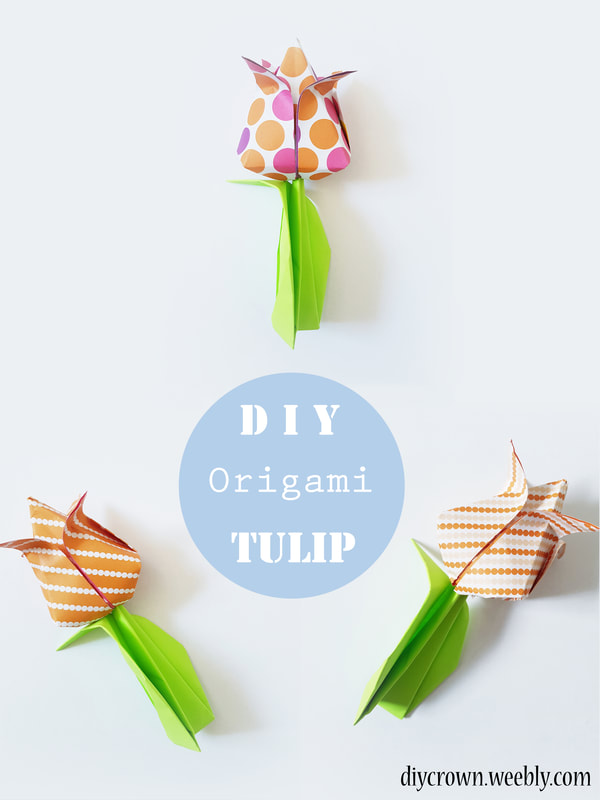 Origami Flower - Tulip (easy - modular) - YouTube | 800x600